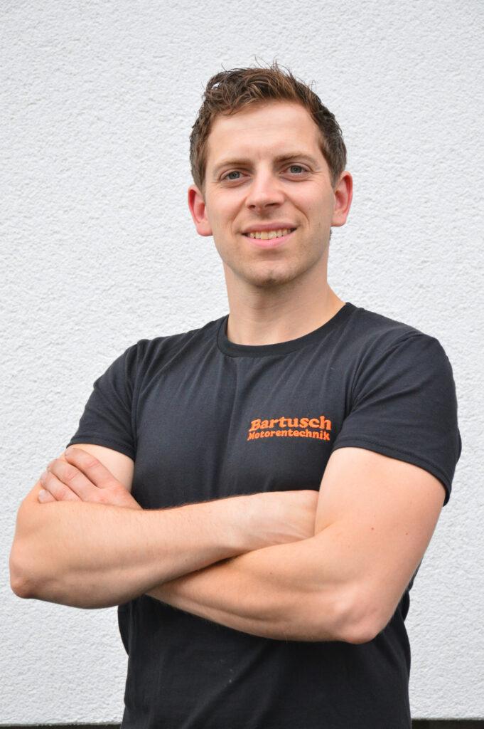Foto zeigt Inhaber Marius Bartusch